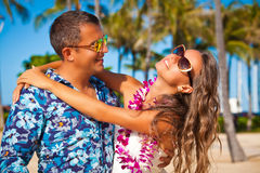 Romance in paradise Stock Photography