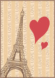 Romance in paris poster Stock Images