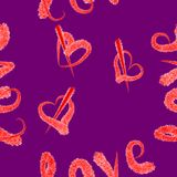 Romance pattern. Seamless romance pattern love Stock Photos
