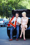 Romance on the road Royalty Free Stock Photo
