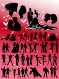 Romance Silhouettes Royalty Free Stock Photos