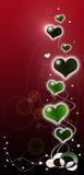 Romance soñador de la tarjeta del día de San Valentín. Fotos de archivo