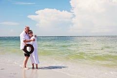 Romance supérieur de couples Images libres de droits