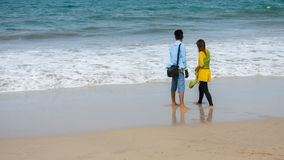Romance sur la plage Photos stock