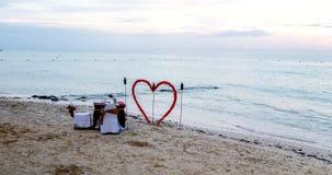 Romance sur la plage Photo libre de droits