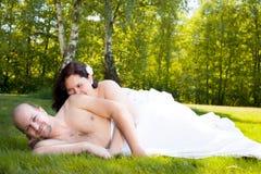 Romance sur le champ Images libres de droits