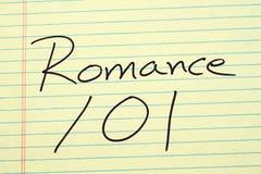 101 Romance sur un tampon jaune Photographie stock