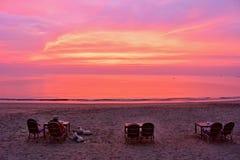Romance sur une plage Image libre de droits