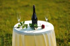Romance Tabelle Stockfoto