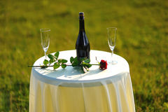 Romance table Stock Photo