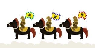 Romance Of The Three Kingdoms Horses Horseback Royalty Free Stock Images