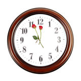 Romance time. Creative clock on white Royalty Free Stock Images