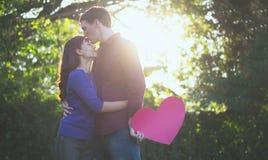 Romance und Valentine Concepts Idee der Liebe, Stockbild