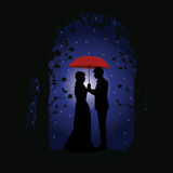 Romance under the Stars, Vector illustrations. People Royalty Free Stock Photography