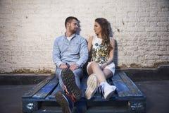 Romance urbano immagine stock libera da diritti