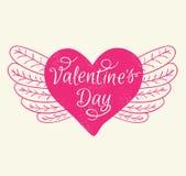 Romance Valentine's day card Royalty Free Stock Photos
