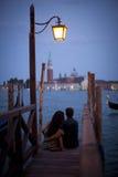 Romance in Venedig Stockbilder