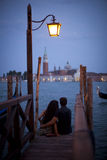 Romance in Venice. Stock Images
