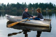Romance on the water Stock Photography