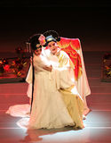 """Romance of the Western Chamber  (Kunqu Opera). BEIJING – FEBRUARY 15: Actors of the Northern Kunqu Opera Troupe perform the famous love comedy """"Romance of Royalty Free Stock Photography"""