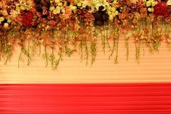 Romance wide scene wedding background Stock Image