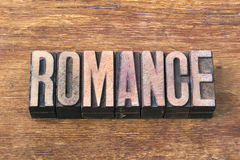 Romance word wood Stock Photo