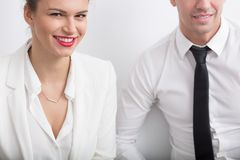 Romance in workplace Royalty Free Stock Images