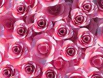 Romance y floración de la plantilla de las demostraciones de las rosas del fondo Imagen de archivo