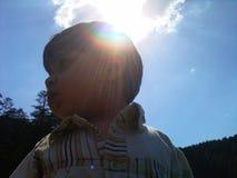 Romanch que goza del sol imagen de archivo libre de regalías