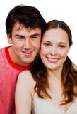夫妇romancing的微笑 库存图片