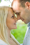 Romancing young couple. Stock Photo
