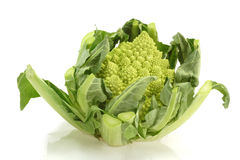 Romanesco. Cabbage on bright background Royalty Free Stock Photography