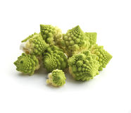 Romanesco broccoli. Isolated on white Royalty Free Stock Photo