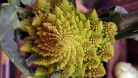 Romanesco Broccoli. Close-up photo top side Stock Photography