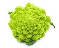 Romanesco broccoli. Green Romanesco broccoli isolated on white background Stock Photography