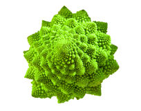 Romanesco broccoli. Isolated on white background Stock Photo