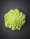Romanesco broccoli  on a stone slab. Royalty Free Stock Image