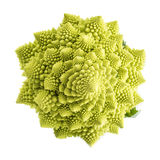 Romanesco broccoli vegetable isolated on white background Royalty Free Stock Image