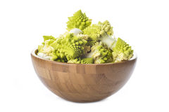 Romanesco broccoli vegetable isolated on white background Royalty Free Stock Photo