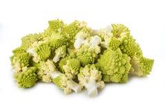 Romanesco broccoli vegetable isolated on white background Stock Photo