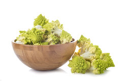Romanesco broccoli vegetable isolated on white background Stock Image