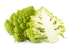 Romanesco broccoli. On white background Royalty Free Stock Photos