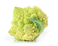 Romanesco cabbage. Isolated over white Royalty Free Stock Image