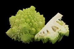 Romanesco cabbage on black Royalty Free Stock Photos