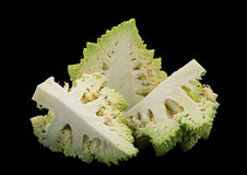 Romanesco cabbage on black Royalty Free Stock Images