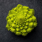Romanesco cabbage on dark background Stock Photography