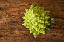 Romanesco cauliflower broccoli on a kitchen bench. Stock Photography