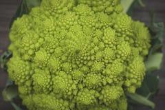 Romanesco cauliflower with logarithmic spirals with fibonacci nu Royalty Free Stock Images