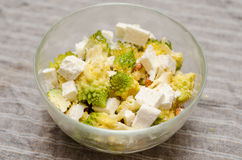 Romanesco and romanian cheese salad Royalty Free Stock Photos