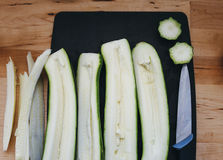 Romanesco courgette slices Royalty Free Stock Photography